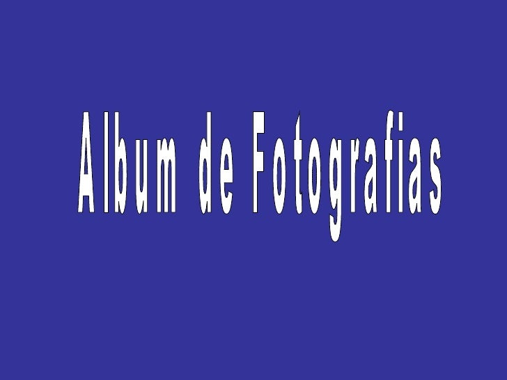 Album de Fotografias