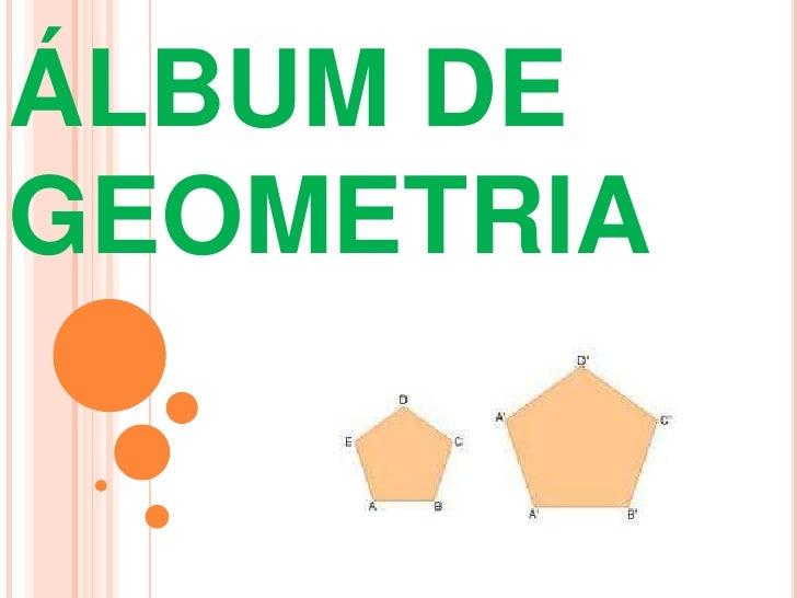 ÁLBUM DE GEOMETRIA<br />