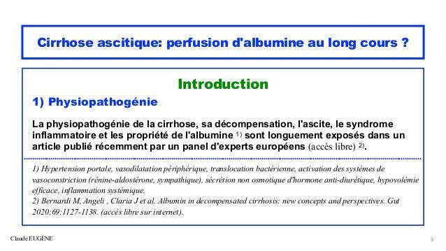 Cirrhose ascitique Perfusion d'albumine au long cours ? Slide 3