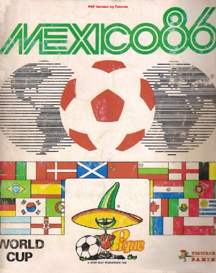 Album Panini Mexico 1986