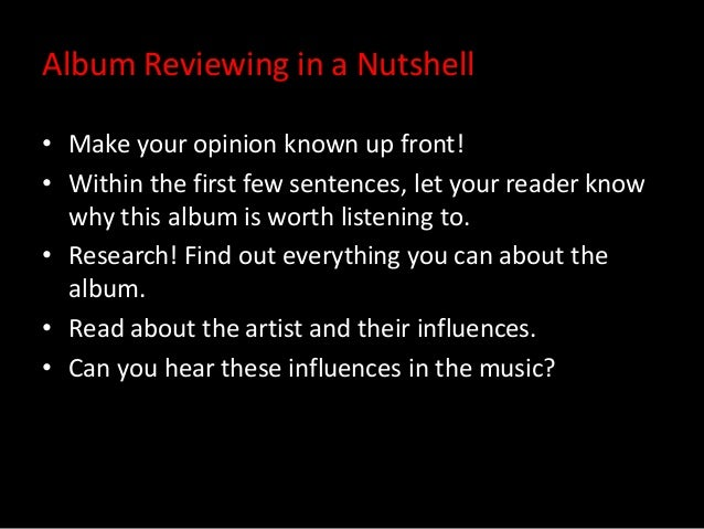 how to write a music album review