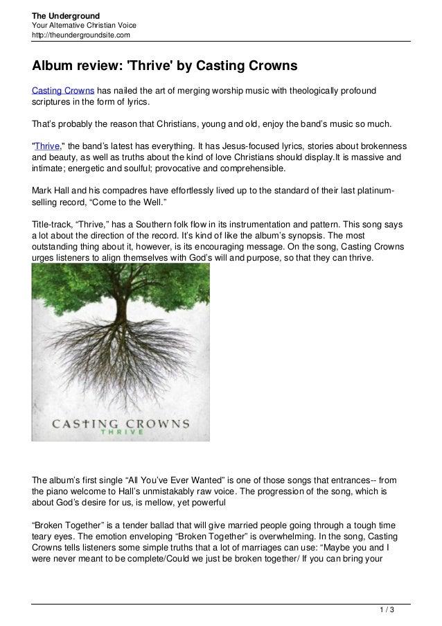 Casting crowns worship album