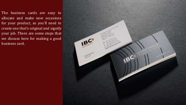making a business card