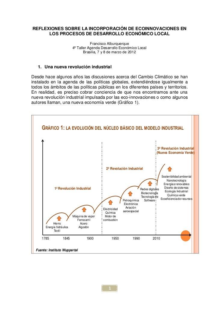 REFLEXIONES SOBRE LA INCORPORACIÓN DE ECOINNOVACIONES EN      LOS PROCESOS DE DESARROLLO ECONÓMICO LOCAL                  ...