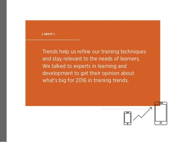 2016 Training Trends: Experts Weigh In  Slide 2