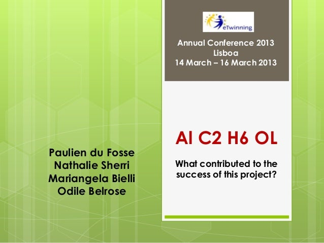 Annual Conference 2013                             Lisboa                    14 March – 16 March 2013                    A...