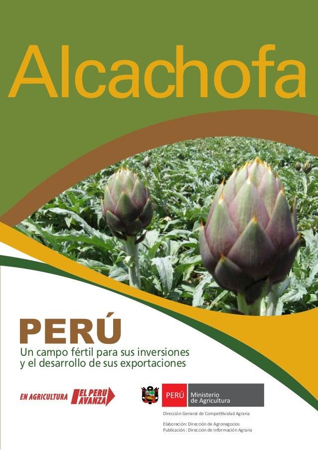 Alcachofa Un campo fértil para sus inversiones y el desarrollo de sus exportaciones Dirección General de Competitividad Ag...