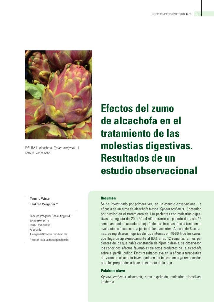 Revista de Fitoterapia 2010; 10 (1): 47-53   3                                            Efectos del zumo                ...
