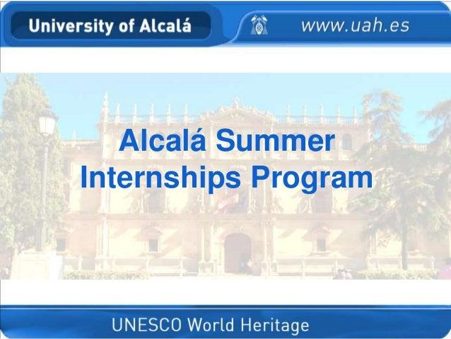 Alcalá Summer Internships Program