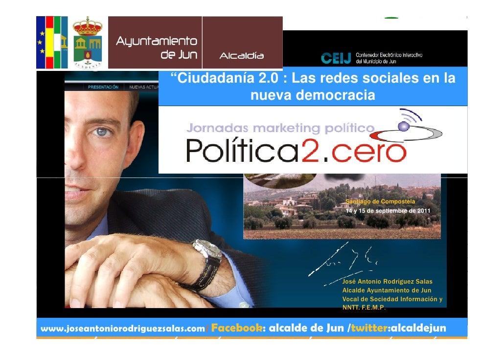 """""""Ciudadanía 2.0 : Las redes sociales en la                                   nueva democracia                             ..."""