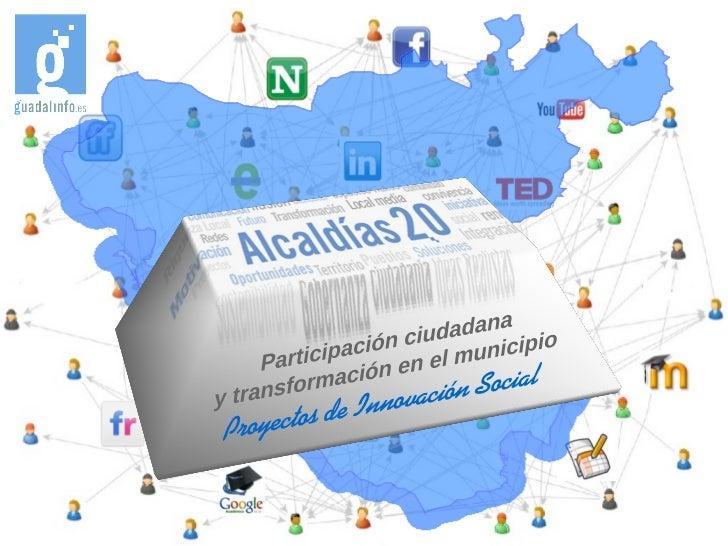 Las lineas de acción desarrolladas con losproyectos de innovación en la redGuadalinfo son:                  Servicios en r...