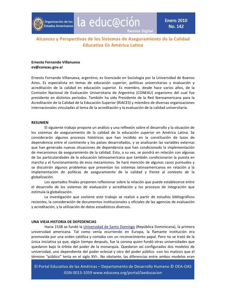 AlcancesyPerspectivasdelosSistemasdeAseguramientodelaCalidad                          EducativaEnAméri...