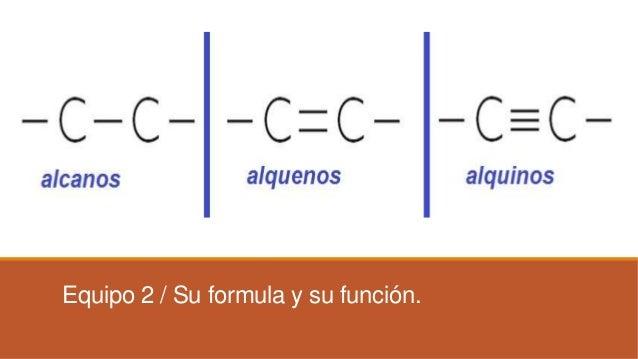 Equipo 2 / Su formula y su función.