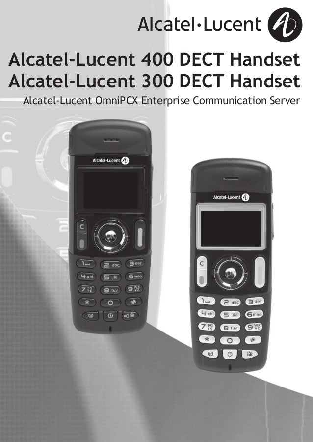 Alcatel lucent 400 dect user guide