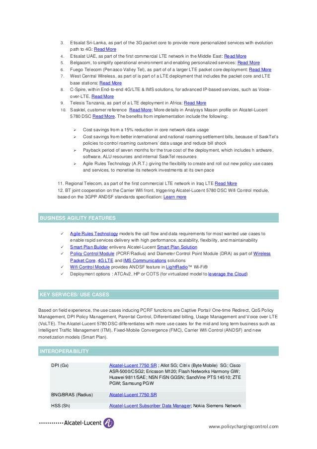 Alcatel Lucent 5780 Dynamic Services Controller (DSC
