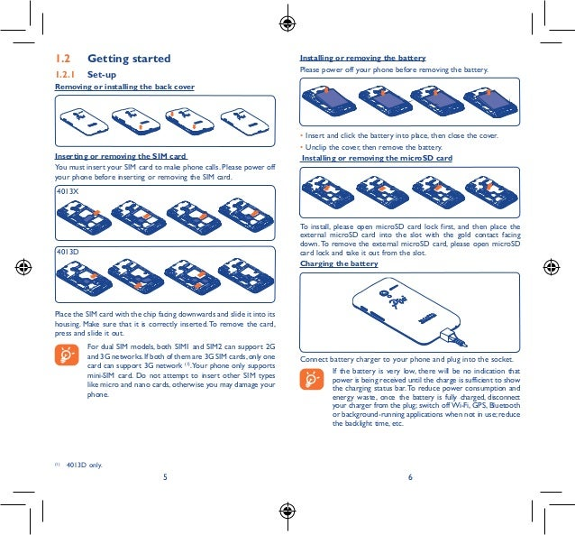 Alcatel OneTouch PIXI 3 Manual / User Guide Slide 3