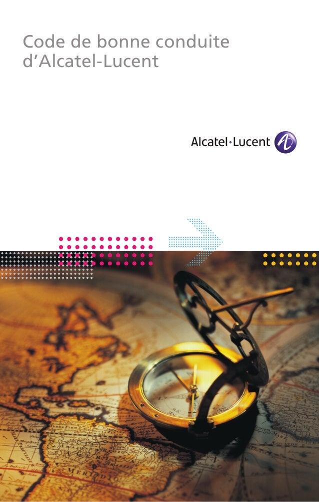 Code de bonne conduite d'Alcatel-Lucent