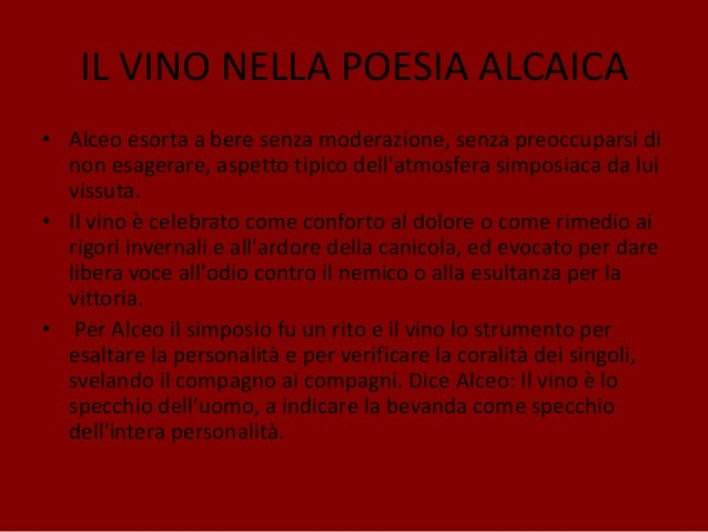 Alceo e orazio il vino nella cultura classica - Poesia lo specchio ...