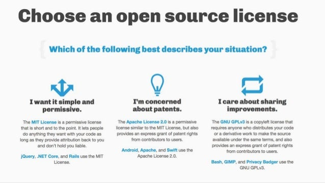 Open source software licenses
