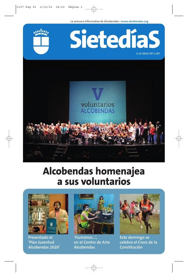1107 Pag 01   1/12/10   18:20   Página 1                                 La semana informativa de Alcobendas   www.alcoben...