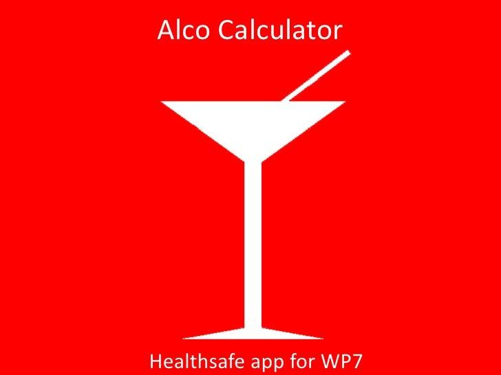 Alco calculator