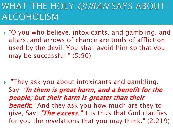 Alcohol and gambling in quran ottawa gambling help