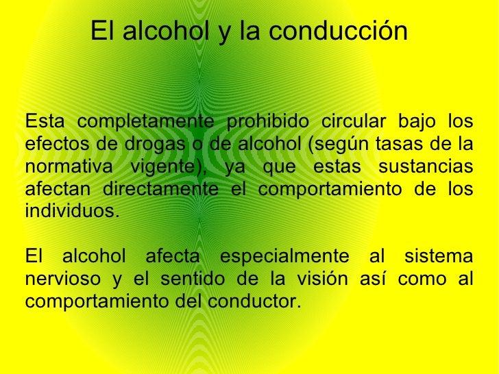 Alcohol Y Conduccion