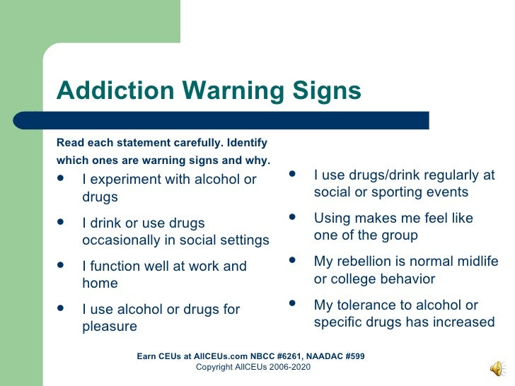 Drugs of Abuse: Addiction Theory