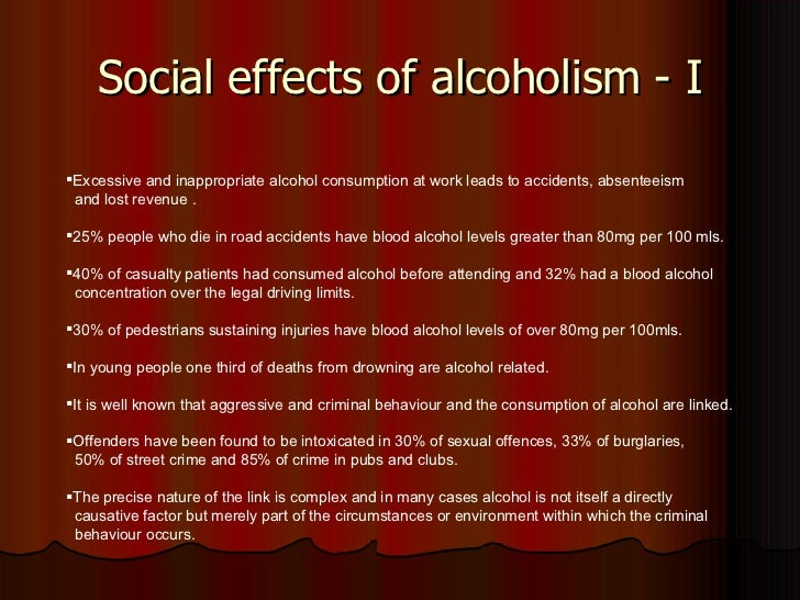 Effects of alcohol on the human body Essay