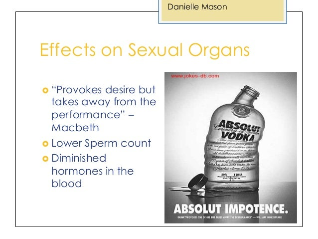 alcohol sexual performance