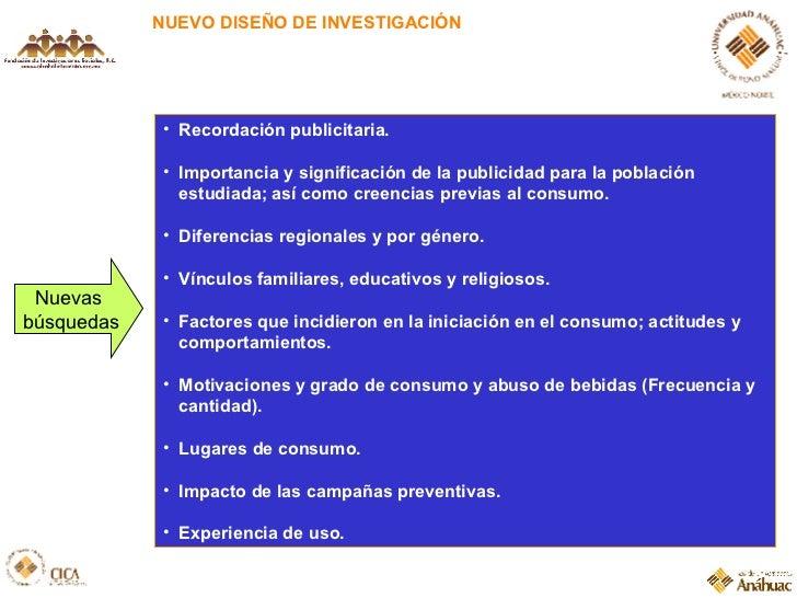 NUEVO DISEÑO DE INVESTIGACIÓN <ul><li>Recordación publicitaria. </li></ul><ul><li>Importancia y significación de la public...
