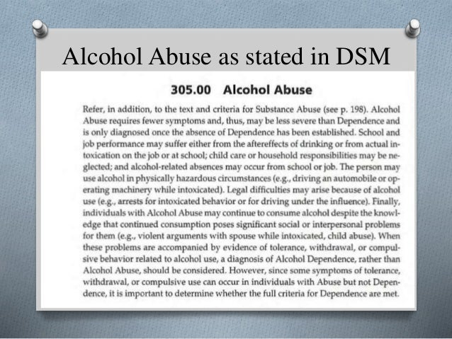 alcohol addiction dsm 5