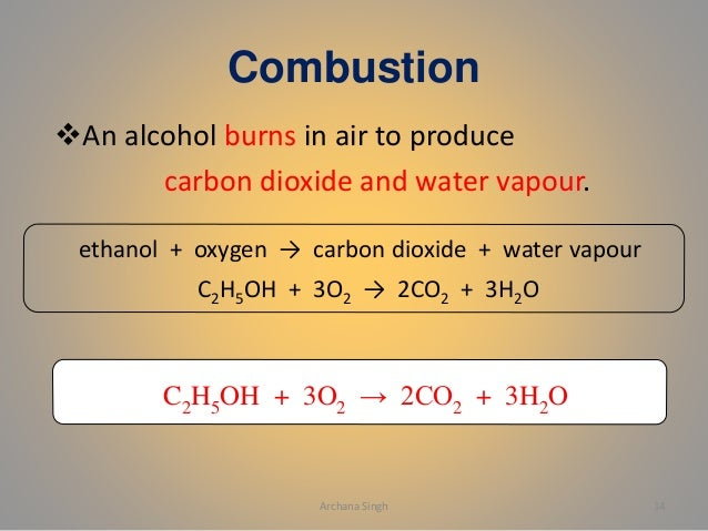Alcohol and carboxylic acid