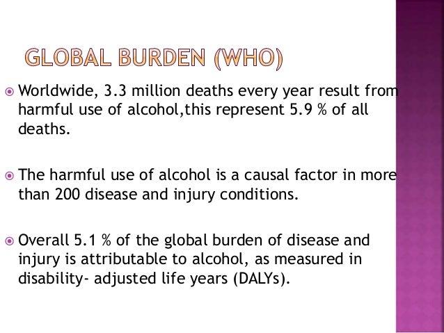 Alcohol as public health problem  Slide 2