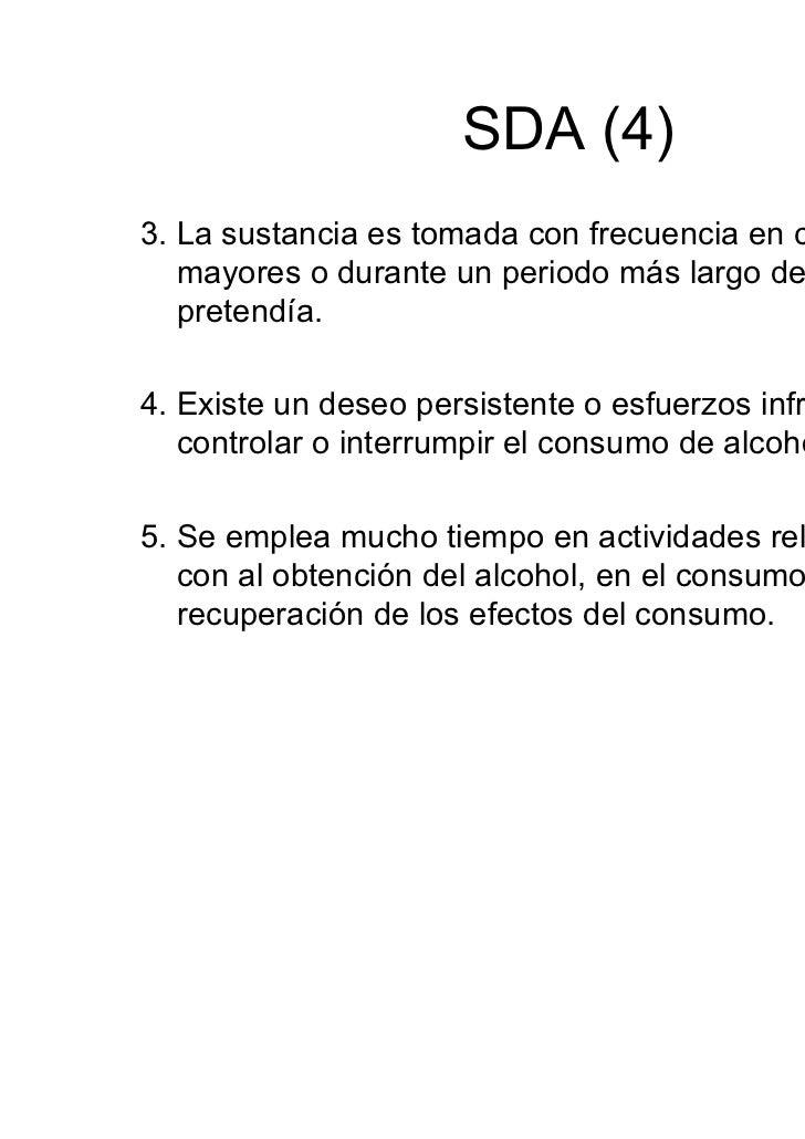 Técnicas diagnósticas• 1- Recogida de datos del consumo de alcohol.• 2- Anamnesis y exploración física.• 3- Test de detecc...