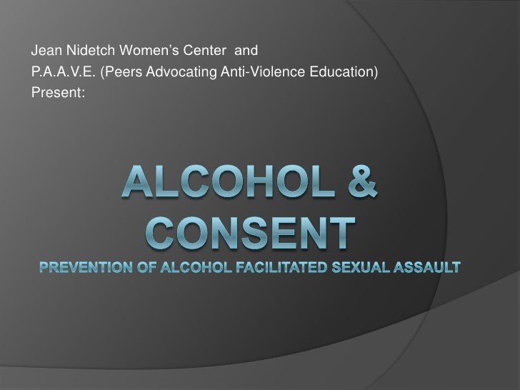 Jean Nidetch Women's Center andP.A.A.V.E. (Peers Advocating Anti-Violence Education)Present: