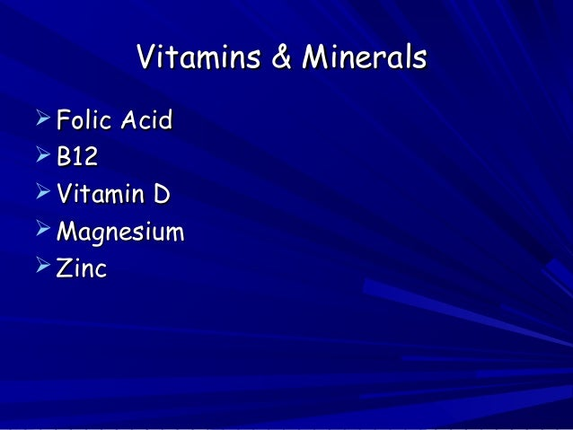 mental health vitamins