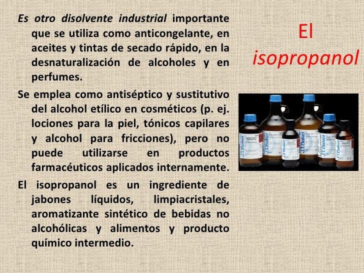 Alcoholes - Alcohol de limpieza para que sirve ...