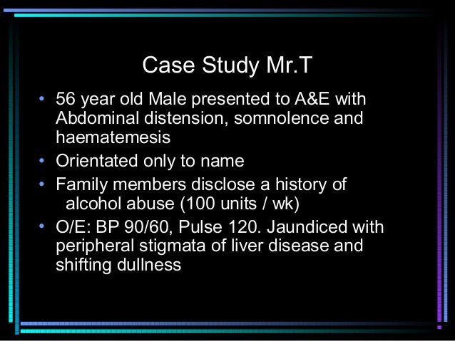 An alcoholic patient who continues to drink: case presentation