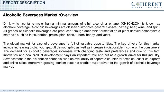 Current Trends and Future Growth of Alcoholic Beverages Market Slide 2
