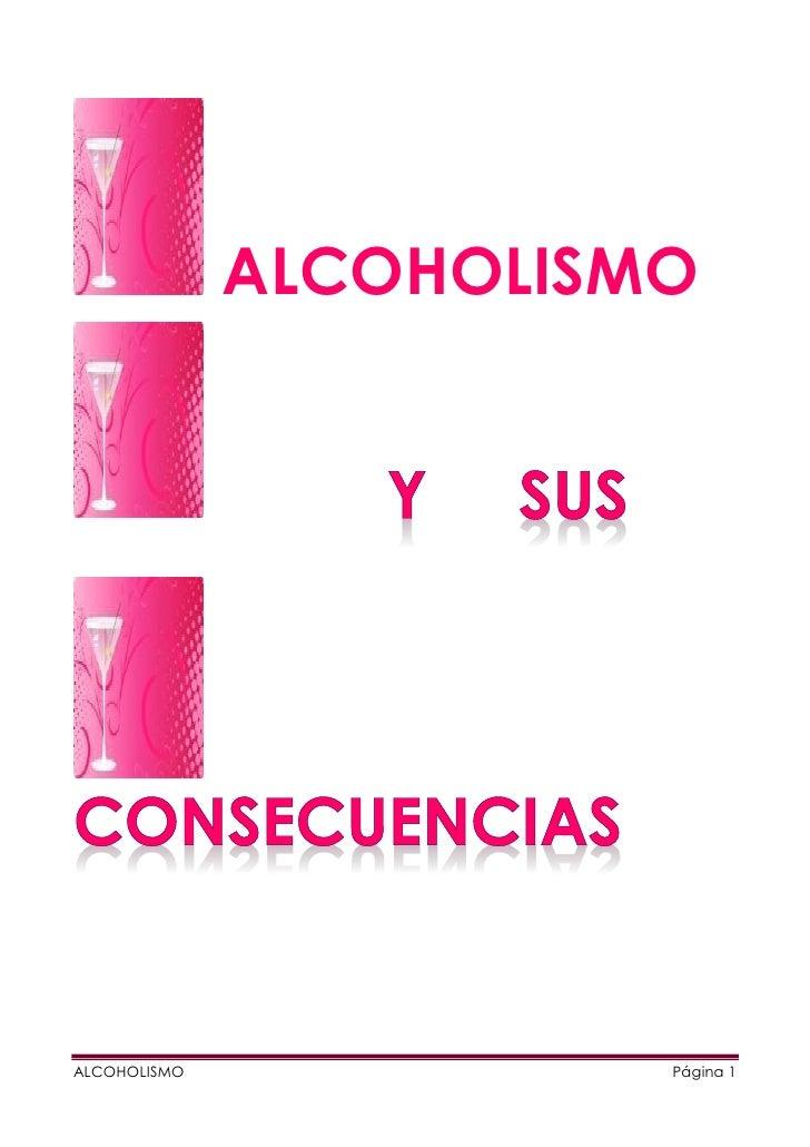 ALCOHOLISMOALCOHOLISMO             Página 1