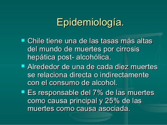 La estadística de los crímenes por razones del alcoholismo
