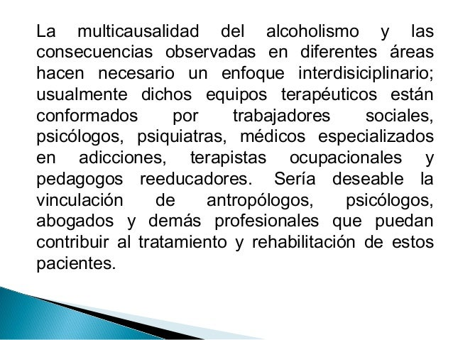 Los datos de la estadística el alcoholismo
