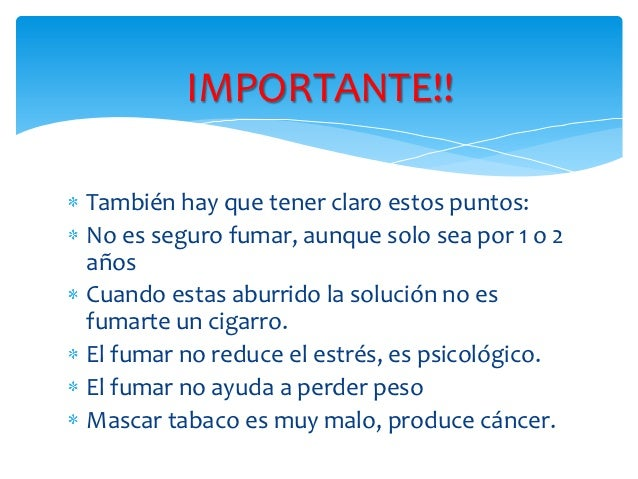 A LARGO PLAZO Disminución de la memoria- Dolores de cabeza,- Fatiga,- Bronquitis,- Enfisema pulmonar,- Cáncer de pulmón, b...