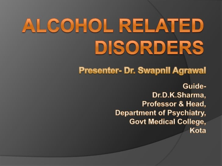 Ppt alcohol related disorders powerpoint presentation id:1413789.