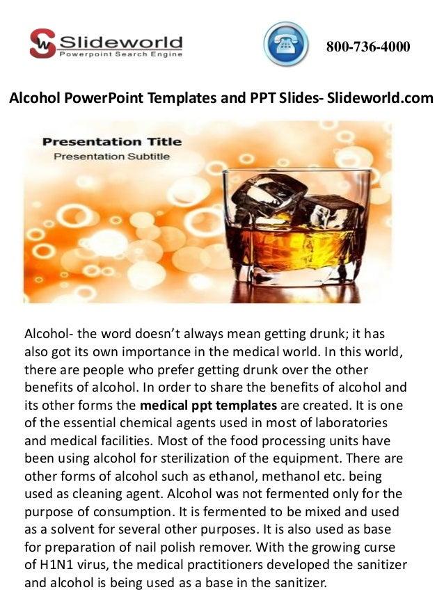 alcohol powerpoint templates and ppt slides slideworldcom