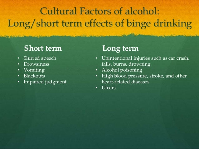 Long Term Effects Of Daily Drinking