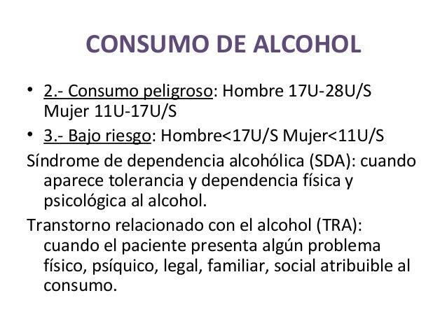 El test de la fase la dependencia alcohólica