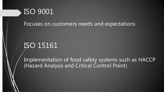 application of total quality management in food industry
