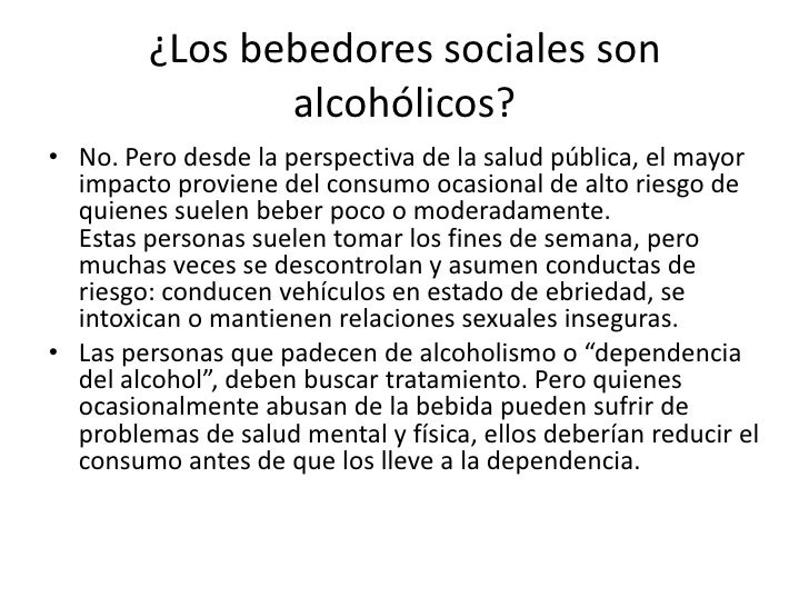 El tratamiento contra el alcohol por los complotes